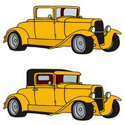 Yellow hot rods Stock Illustration