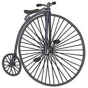 Vintage velocipede - stock illustration