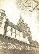Wawel Hill Stock Illustration