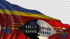 Flag of Swaziland Stock Footage