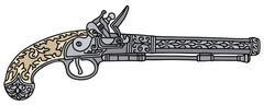Historical pistol - stock illustration