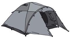 Gray tent - stock illustration