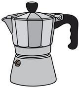 Classic espresso maker - stock illustration