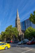 Scots Church in Melbourne Stock Photos