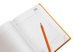 notepad and pencil - stock photo