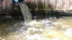 Sewer, Waste water pond. Stock Footage