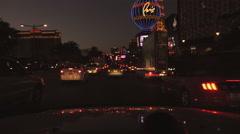 4K UHD Las Vegas Strip north dusk Paris Caesers Palace Ballys - seq 6 - stock footage