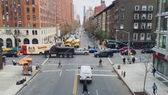 New York City street time lapse Stock Footage