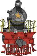 Vector Big black locomotive Stock Illustration