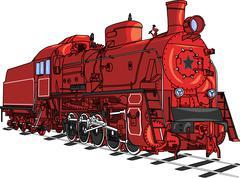 Train locomotive vector. Stock Illustration