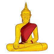 Decorative buddha statue Stock Illustration
