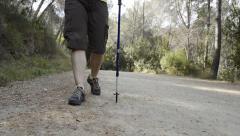 woman hiking - stock footage