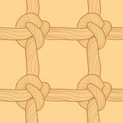 Rope and knots seamless pattern Stock Illustration
