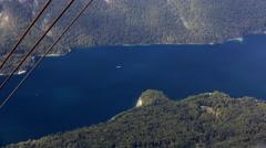Timelapse - High angle view of a Bohinj lake Stock Footage