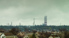 The plant, heavy industry, the smoke from pipes. Timelapse Stock Footage
