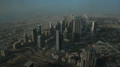 Overhead view of Dubai from the Burj Khalifa Stock Footage