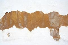 White wall that need to be repainted - stock photo