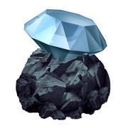 Diamond In The Rough Stock Illustration
