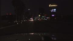 4K UHD Las Vegas Strip north dusk Wynn Encore Riviera - seq 13 Stock Footage