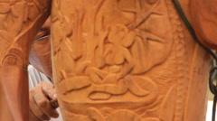 Wood Carving on Palau Stock Footage