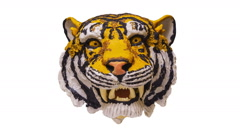Tiger head. Stop motion animation. Stock Footage