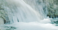 Powerful water stream falling close up loopable seamless video of nature - stock footage
