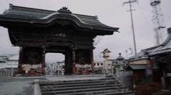 Old Japanese gate Stock Footage