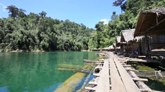 Video 1920x1080  Tropical lake and house in Khao Sok National Park, Thailand Stock Footage