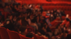 blurry crowd on seat - stock footage