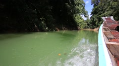Video 1920x1080  Boat trip to lake. Khao Sok National Park, Thailand - stock footage