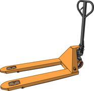 Vector yellow pallet truck Stock Illustration
