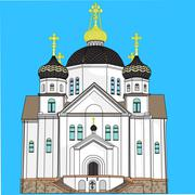 vector Orthodox Church - stock illustration