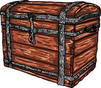 vector antique chest - stock illustration