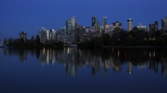 Vancouver from Stanley Park and Lost Lagoon Stock Footage