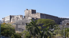 Stock Video Footage of San Cristobal Fortress South wall