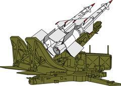 Air defense missile system Stock Illustration