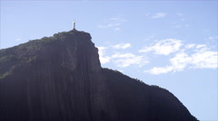 Christ the Redeemer in Rio de Janeiro Stock Footage