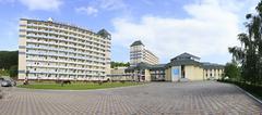 Sanatorium Belokuriha on the same resort - stock photo