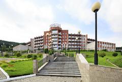 Sanatorium Health Resort Kuzbass resort Belokurikha Stock Photos