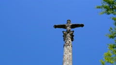 Stone cross Stock Footage