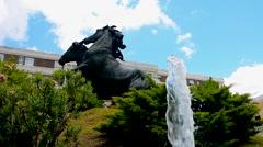 Fountain in a park, Jerez de la Frontera, Spain - stock footage
