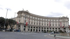 Fountain in Piazza of the Republic. Rome, Italy. 1280x720 Stock Footage