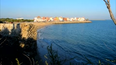 Apartments next to the beach, Puerto Sherry, Cadiz, Spain Stock Footage