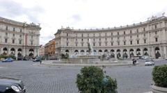 Square of the Republic. Rome, Italy Stock Footage