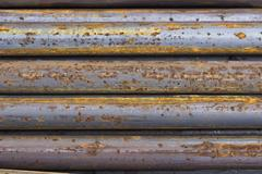 Close of rusty iron rods 4 - stock photo