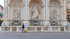 Dell'Aqua Felice Fountain. Rome, Italy. 1280x720 Stock Footage