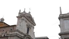Top of the fountain Dell'ACqua Felice. Rome, Italy. 1280x720 Stock Footage
