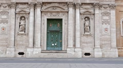 Chiesa di Santa Susanna alle Terme di Diocleziano. Rome, Italy. 1280x720 Stock Footage