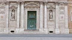 Chiesa di Santa Susanna alle Terme di Diocleziano. Rome, Italy Stock Footage