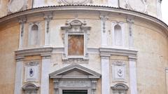 Chiesa di San Bernardo alle Terme. Rome, Italy. 1280x720 Stock Footage